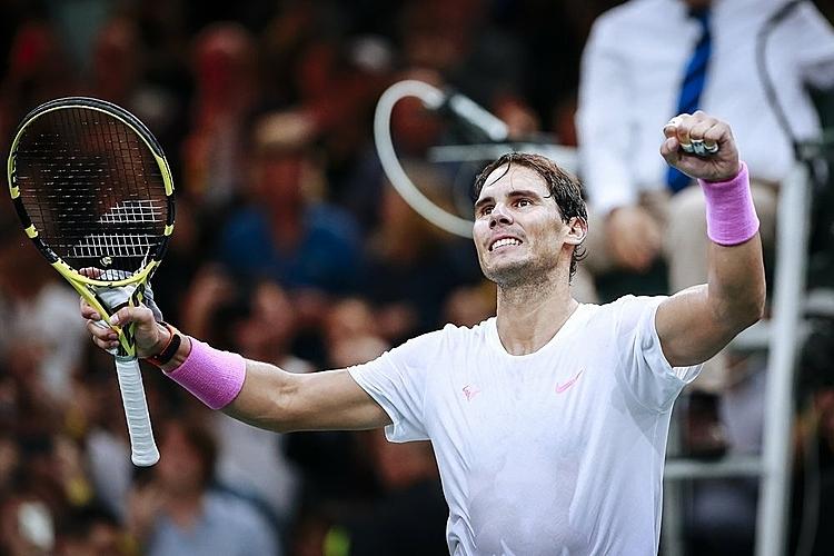 Nadal đang chạy đua với thời gian để hồi phục chấn thương cơ bụng, trước sự kiện ATP Finals khởi tranh vào 10/11. Ảnh: AP.