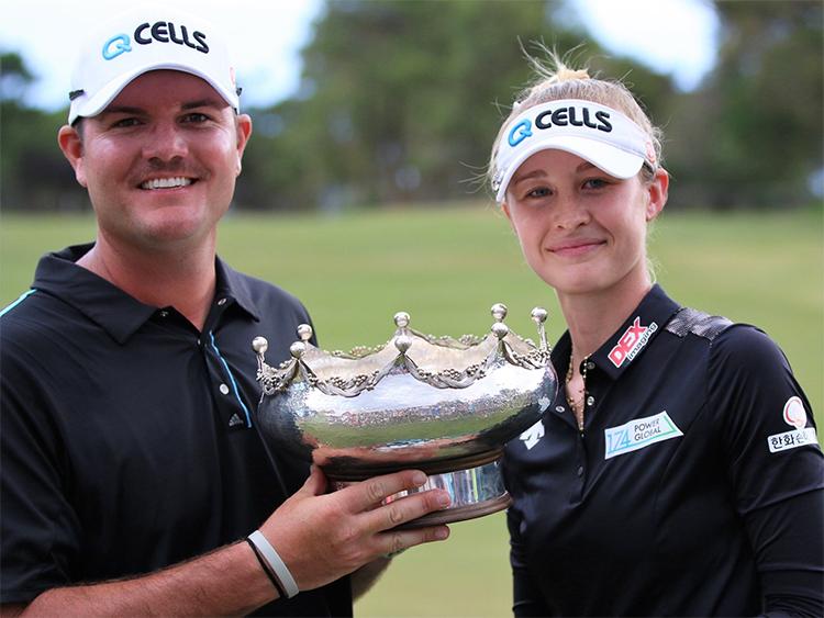 Jason McDede là caddie thân tín, từng cùngNelly Korda chinh chiến ở nhiều giải đấu. Ảnh: Our Sporting Life SA.