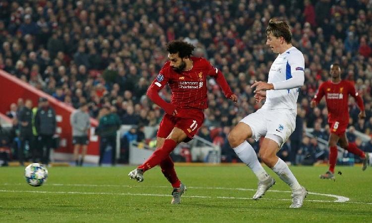 Salah có nhiều cơ hội nhưng không thể ghi bàn. Ảnh: Reuters.