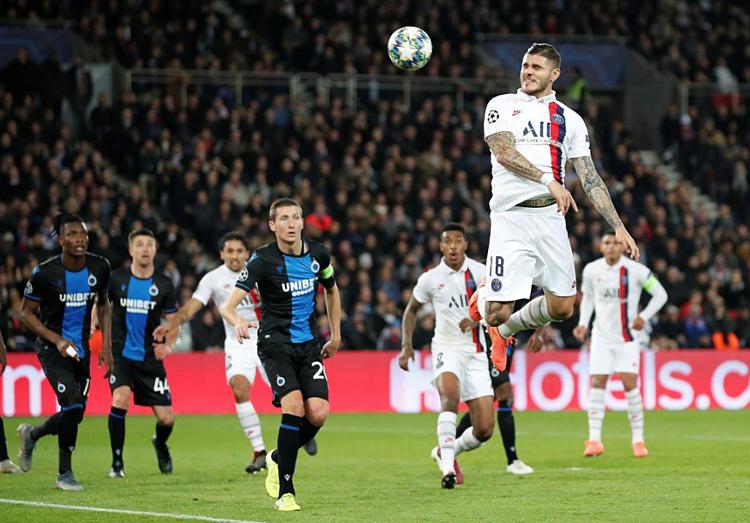 PSG vượt trội hoàn toàn so với Brugge. Ảnh: Reuters.