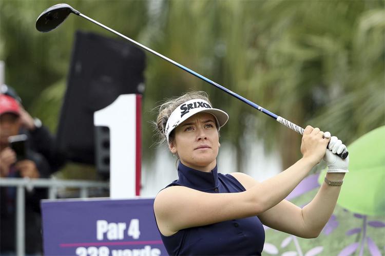 Qua hai năm đấu LPGA Tour, Green có hai danh hiệu và ba lần cán đích trong top 10 cùng số tiền thưởng 1,246 triệu USD. Vị trí thứ 19 trên bảng xếp hạng Race to the CME Globe giúp cô cầm chắc chiếc vé dự giải chốt mùa. Ảnh: AP.