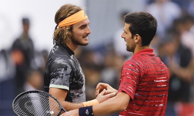 Chiến thắng trước Djokovic ở Thượng Hải là một trong những mốc son chói lọi của Tsitsipas năm nay. Ảnh: Eurosports.