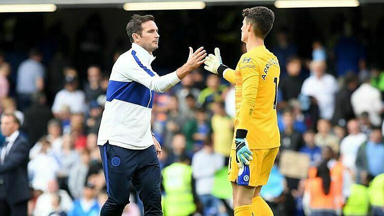 Kepa chưa vắng mặt trận nào ở Ngoại hạng Anh và Champions League dưới thời Lampard. Ảnh: Sky Sports.