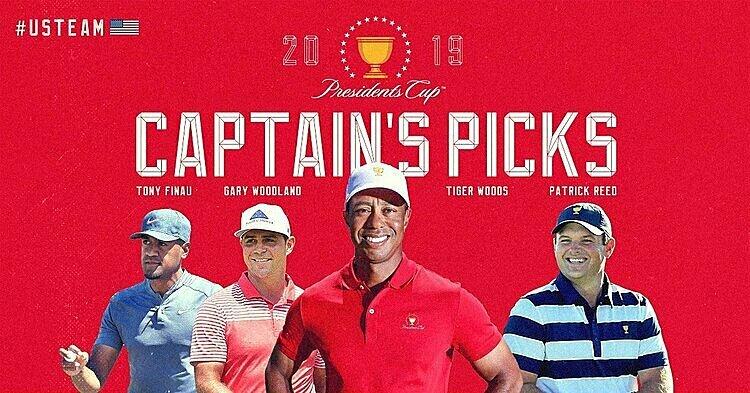 Những lựa chọn của đội trưởng tuyển Mỹ Tiger Woods. Ảnh: Presidents Cup.