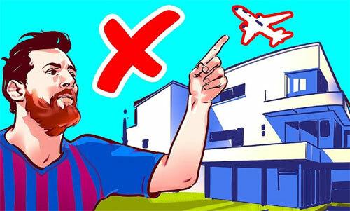 Trong khi nhiều người mong được ngắm máy bay, nhà của Messi thuộc khu vực cấm máy bay đi qua.