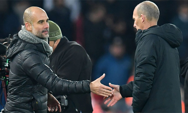 Guardiola quả quyết luôn tìm gặp bắt tay cảm ơn trọng tài trong mọi trận đấu. Ảnh: AFP.