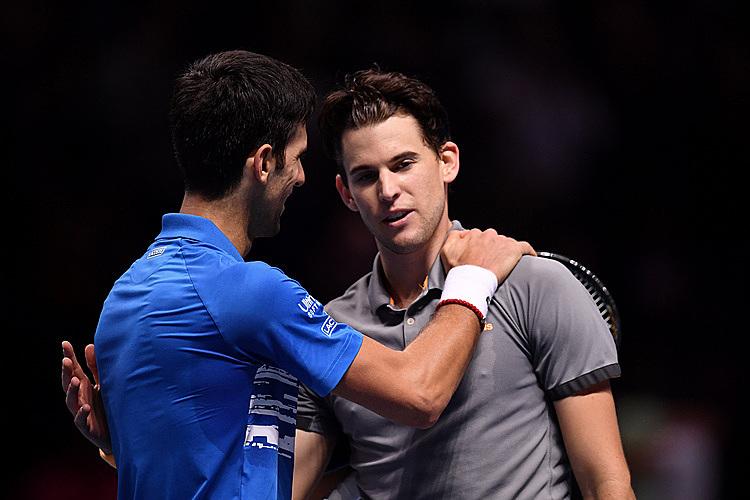 Djokovic thắng sáu trong 10 lần gặp Thiem. Ảnh: Tennis.com