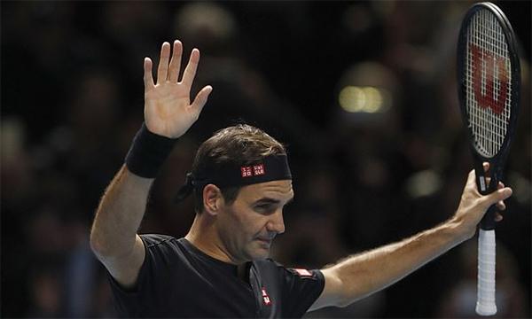 Federer thắng trận đầu tiên ở ATP Finals 2019