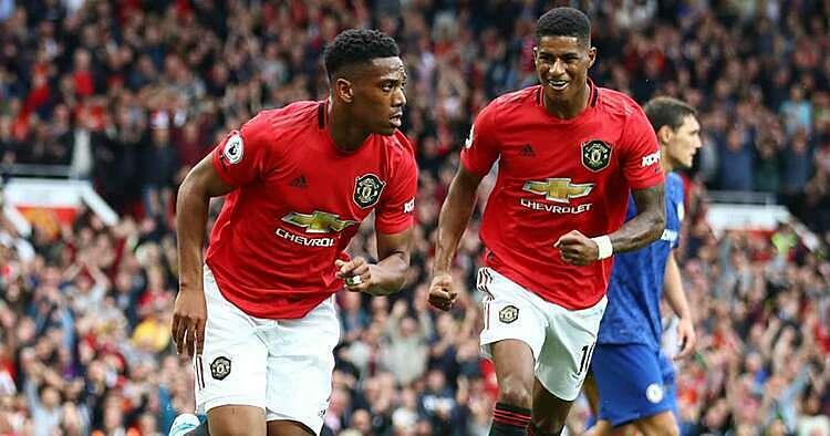 Martial (trái, 23 tuổi) và Rashford (22 tuổi) còn quá trẻ để lĩnh xướng hàng công Man Utd. Ảnh: Fotmob.