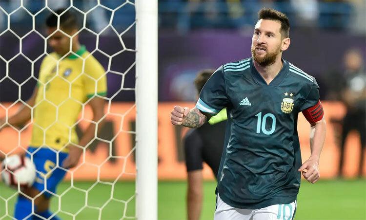 Messi có bàn thứ 69 cho Argentina. Ảnh: AP