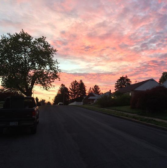 Chạy bộ buổi sáng là cơ hội để ngắm nhìn khung cảnh xung quanh trong ánh bình minh.