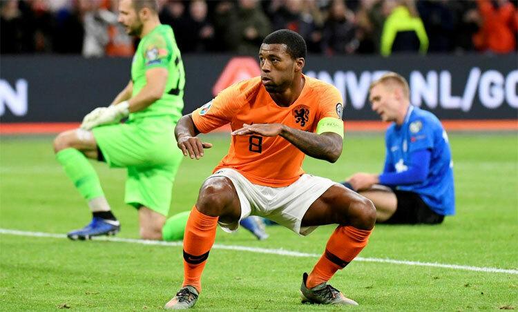 Wijnaldum có tỷ lệ ghi bàn không tồi trong màu áo CLB cũng như đội tuyển. Ảnh: Reuters