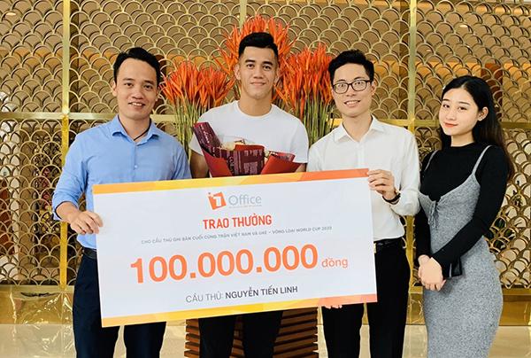 Startup công nghệ trao thưởng cho cầu thủ Tiến Linh - ảnh 2