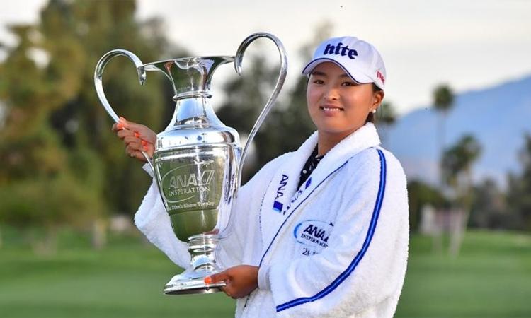 Ko Jin Young, đoạt hai major,chiếm ngôi số một và thâu tóm một loạt danh hiệu cá nhân trong năm 2019. Ảnh: Yonhap.