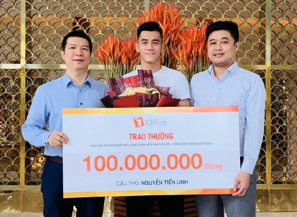 Startup công nghệ trao thưởng cho cầu thủ Tiến Linh - ảnh 1