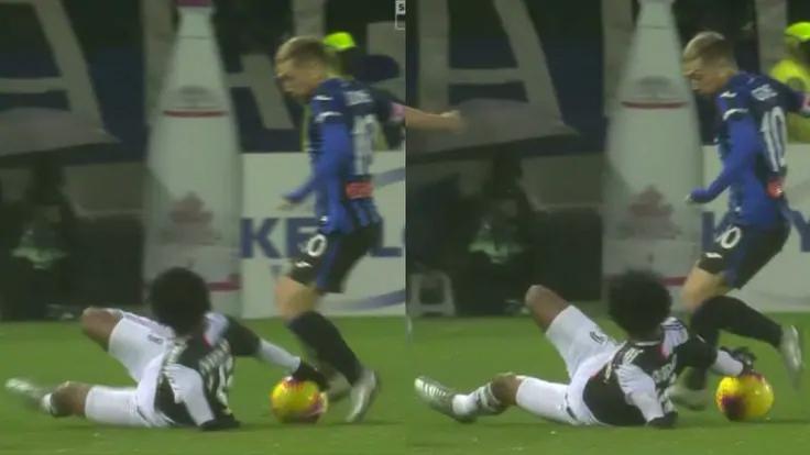 Cuadrado để bóng chạm tay trong tình huống dẫn tới bàn thắng nâng tỷ số lên 2-1 của Higuain.