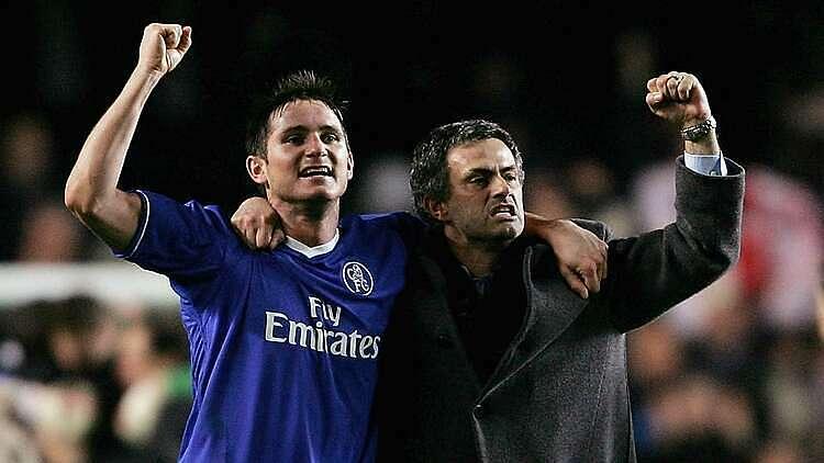 Lampard (trái) từng thành công cùng HLV Mourinho tại Chelsea. Ảnh: Goal.