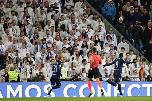 Sociedad sớm có lợi thế trên sân Bernabeu. Ảnh: AP