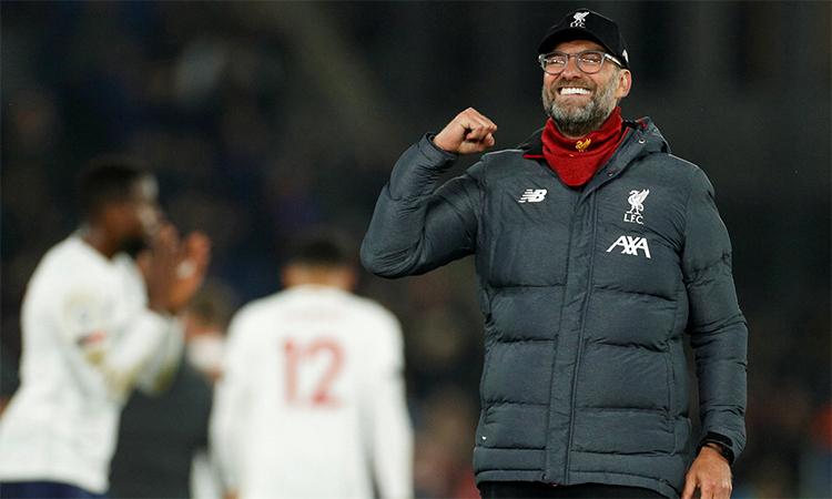 Klopp và Liverpool đang có 30 trận bất bại liên tiếp ở Ngoại hạng Anh. Ảnh: Reuters.