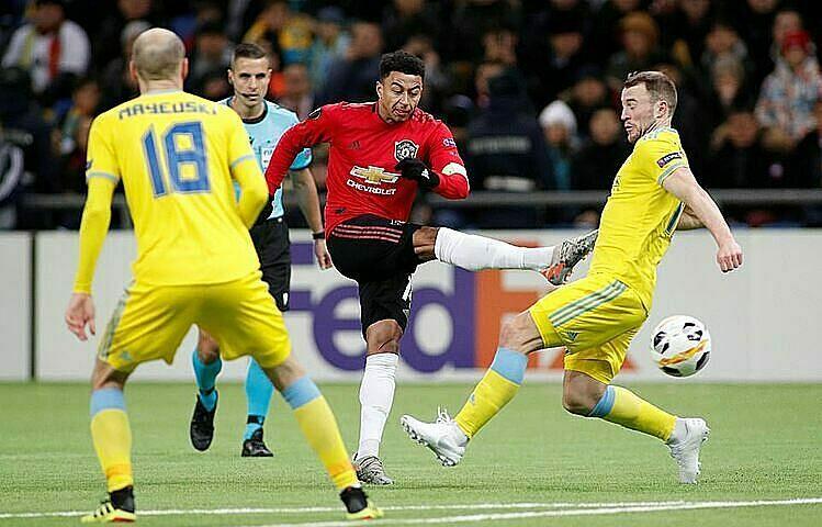 Lingard là cầu thủ già thứ hai của Man Utd trên sân, sau thủ môn Lee Grant. Ảnh: Reuters.