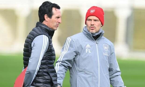 Ljungberg (phải) sẽ làm HLV tạm quyền ở Arsenal. Ảnh: Arsenal FC.