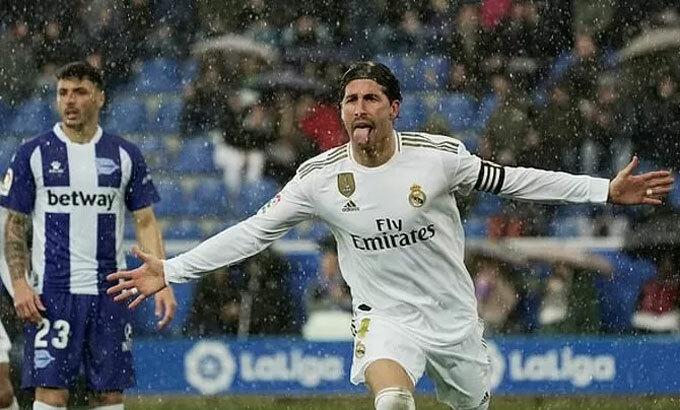 Ramos là cây ghi bàn số hai của Real.
