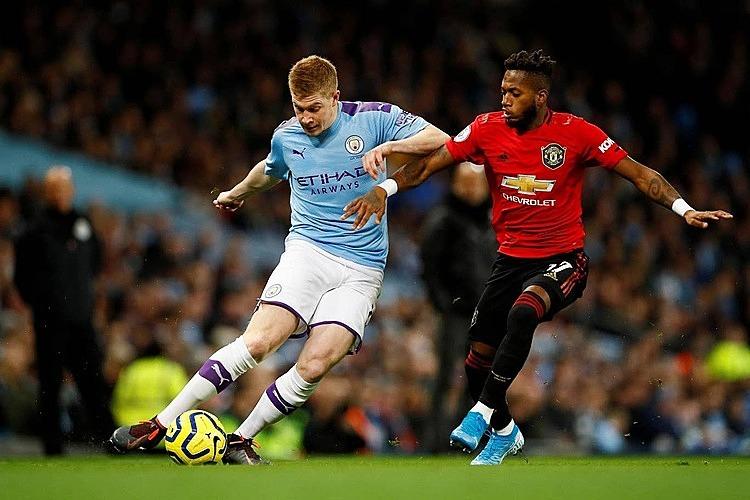 De Bruyne (trái) không thể giúp Man City rời sân với chỉ một điểm. Ảnh: Reuters.