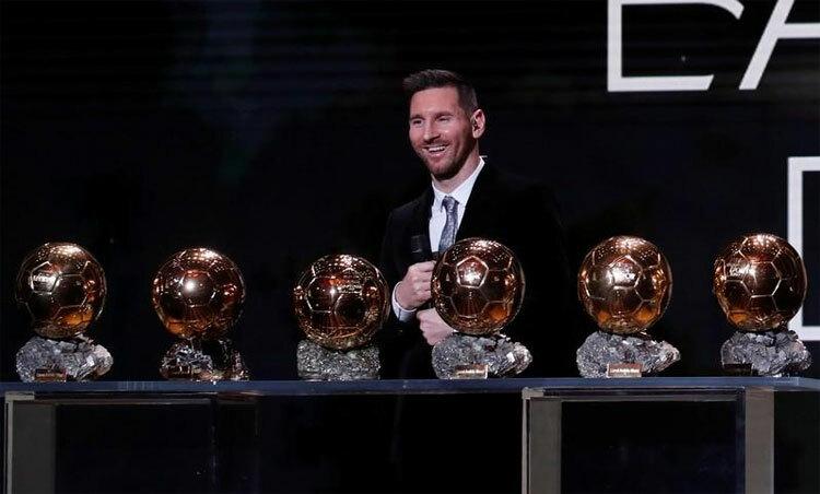 Messi giữ kỷ lục giành sáu Quả Bóng Vàng. Ảnh: Reuters