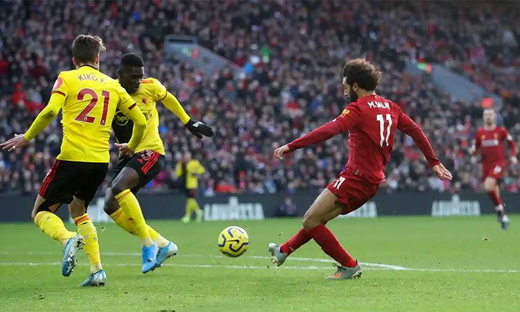 Bàn mở tỷ số của Salah. Ảnh: Reuters.