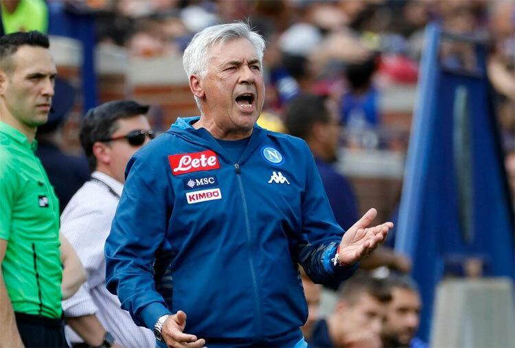 Bên cạnh Arsenal,Everton là một lựa chọn khác cho Ancelotti sau khi ông rời Napoli. Ảnh: Lapresse.