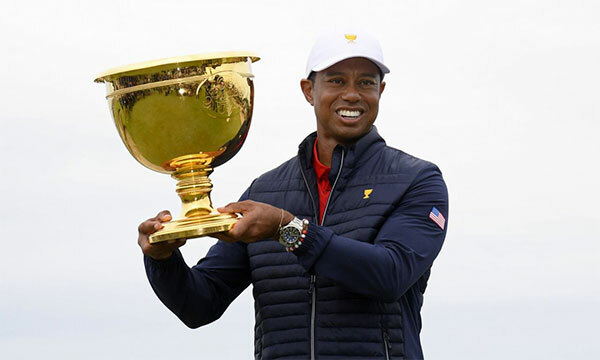 Woods vô địch Presidents Cup trong lần đầu tiên đảm nhiệm vai trò đội trưởng tuyển Mỹ. Ảnh: AP.