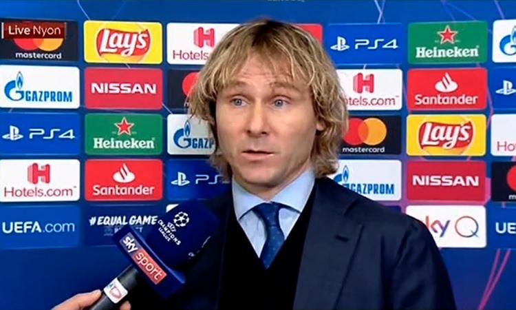 Nedved hài lòng với kết quả bốc thăm vòng 1/8 Champions League. Ảnh: UEFA.