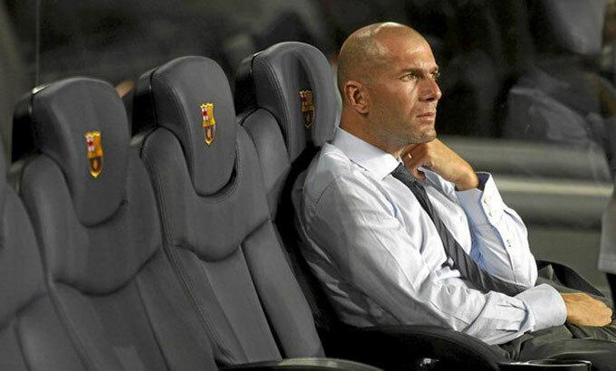 Zidane không hề e ngại sức ép trên sân của Barca. Ảnh: Marca