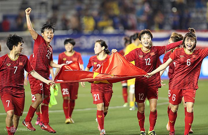 Sau HC vàng SEA Games, Bóng đá nữ Việt Nam đang đứng trước cơ hội lớn ở vòng loại Olympic 2020. Ảnh: Đức Đồng.