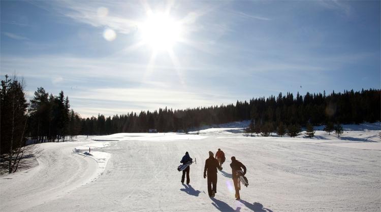 Sân chỉ mở cửa khoảng sáu tuần cho các hội viên chơi golf vào mùa có tuyết. Ảnh: SCGC.