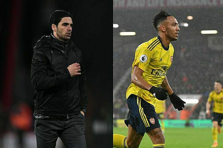 Arteta (trái) cho rằng hòa Bournemouth là kết quả đáng khích lệ. Ảnh: PA.