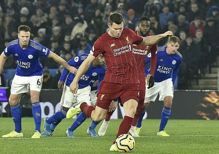 Từ khi khoác áo Liverpool, Milner thực hiện thành công 13 trong 14 quả phạt đền. Ảnh: Reuters.
