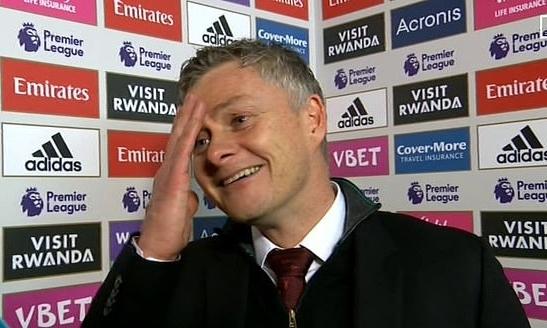 Solskjaer thừa nhận Arsenal chơi hay hơn Man Utd tối 1/1. Ảnh: BT Sport.