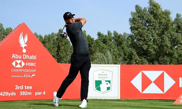 Koepka vẫn theo dõi tình hình và chưa đổi ý định sang Trung Đông dự Abu Dhabi HSBC Championship rồi Saudi International. Ảnh: TheNational.ae.