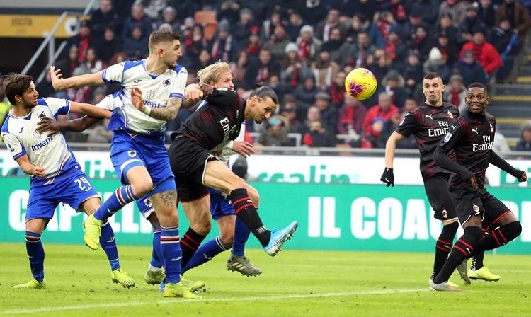 Ibrahimovic không thể giúp Milan giành chiến thắng trong trận ra mắt CLB. Ảnh: Calciomercato.