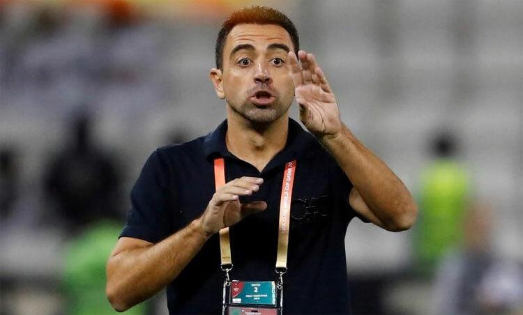 Xavi trong vai trò HLV Al-Sadd. Ảnh: Reuters