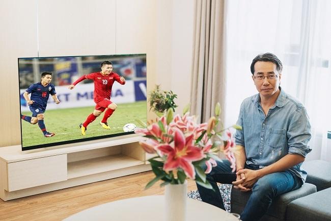 TV LG OLED là lựa chọn của bình luận viên Anh Ngọc để xem thể thao, phim ảnh.