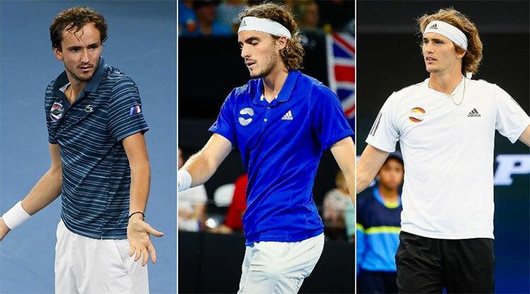 Medvedev, Tsitsipas và Zverev được kỳ vọng sẽ vươn lên thách thức bộ ba quyền lực Nadal - Djokovic - Federer từ Australia Mở rộng năm nay.