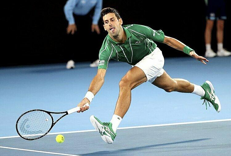 Djokovic có 44 winner cả trận. Ảnh: AP.