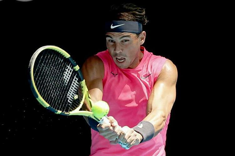 Nadal lần thứ 13 vào vòng bốn Australia Mở rộng. Ảnh: AP.
