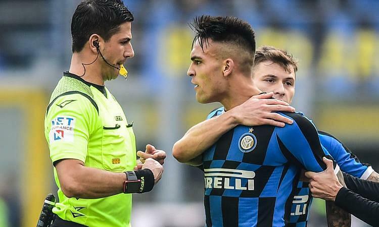 Lautaro Martinez mở tỷ số, sau đó nhận thẻ đỏ vào cuối trận. Ảnh: Calciomercato.