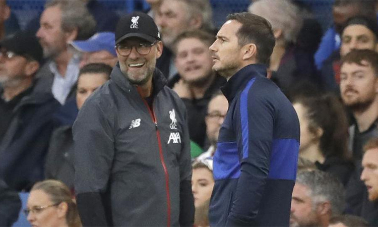 Liverpool của Klopp từng thắng Chelsea của Lampard 2-1 ở vòng sáu Ngoại hạng Anh mùa này. Ảnh: AP.