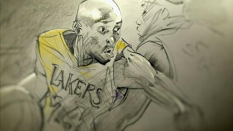 Hình ảnh Bryant trong bộ phim hoạt hình đoạt giải Oscar. Ảnh: LA Times.