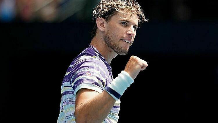 Thiem lần đầu vào tứ kết Australia Mở rộng. Ảnh: Reuters.