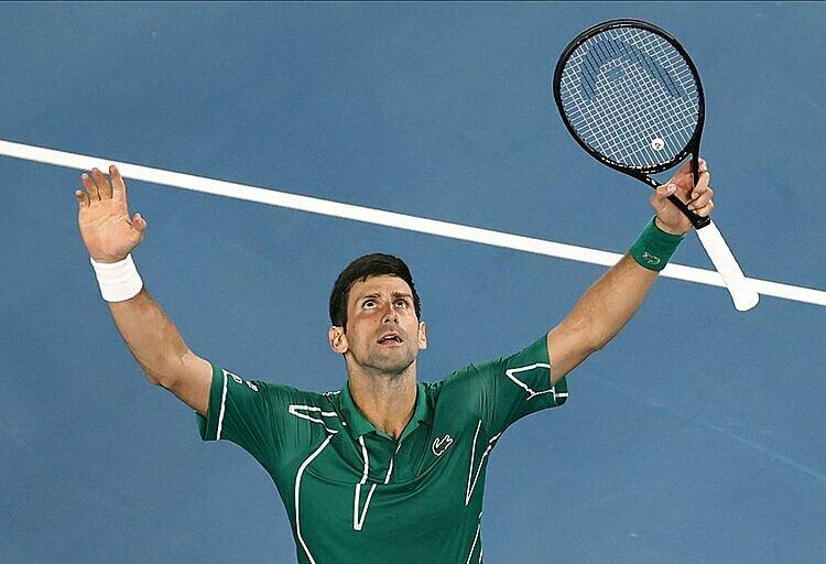 Djokovic toàn thắng tại bán kết và chung kết Australia Mở rộng. Ảnh: AP.